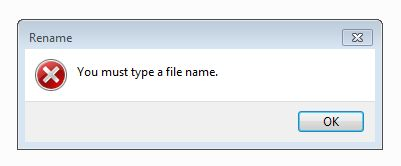 you must type a file name